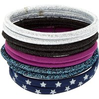Claire's Glitter Star Hair Ties - Navy, 10 Pack - Ties Gifts