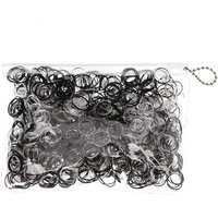 Claire's Black & Clear No More Snag Mini Hair Bobbles - 1000 Pack - Ties Gifts