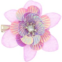 Claire's Glitter Sequin Mini Hair Flower Clips - Pink - Glitter Gifts