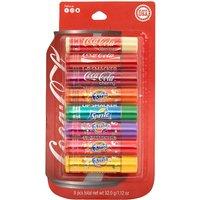 Claire's Coca-Cola Drinks Lip Smacker Lip Balm Set - 8 Pack - Lip Balm Gifts