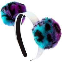 Claire's Leopard Pom Pom Holographic Headband - Leopard Gifts