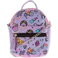 Claire's Unicorn Pwr Mini Backpack Crossbody Bag - Purple - Bag Gifts