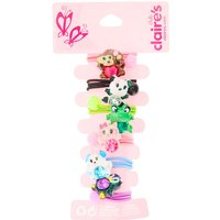 Claire's Kids 6 Pack Jewelled Animal Hair Bobbles - Ties Gifts