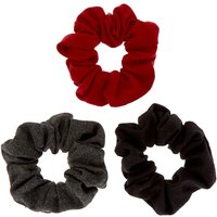 Claire's Cardinal Hair Scrunchies - 3 Pack - Hair Gifts