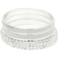 Claire's Club Crystal Glitter Bangle Bracelets - 4 Pack - Crystal Gifts