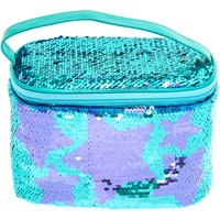 Claire's Reversible Sequin Star Makeup Bag - Teal - Makeup Gifts