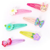 Claire's Club Glitter Spring Hair Clips - 6 Pack - Glitter Gifts