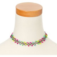 Claire's Neon Beads Tattoo Choker Necklace - Neon Gifts