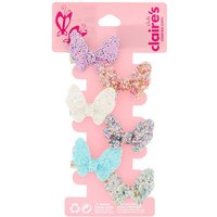 Claire's Club Glitter Butterfly Hair Clips - 6 Pack - Butterfly Gifts