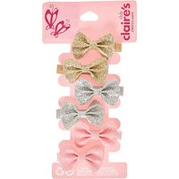 Claire's Club Glitter Bows Hair Clips - 6 Pack - Bows Gifts
