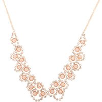 Claire's Rose Gold Pearl Scalloped Statement Necklace - Fashion Gifts