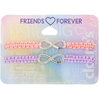 Claire's Pastel Infinity Adjustable Friendship Bracelets - 2 Pack - Friendship Gifts