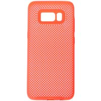Claire's Neon Coral Perforated Phone Case - Fits Samsung Galaxy S8 - Coral Gifts