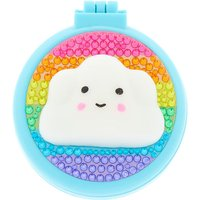 Claire's Rainbow Cloud Pop Up Hair Brush - Turquoise - Turquoise Gifts
