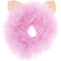 Claire's Medium Faux Fur Cat Ear Hair Scrunchie - Lilac - Lilac Gifts