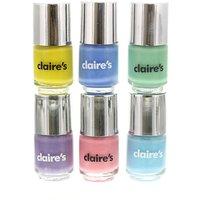 Claire's Pastel Nail Polish - 6 Pack - Nail Polish Gifts