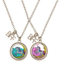 Claire's Best Friends Unicorn Moon & Star Pendant Necklaces - 2 Pack - Necklaces Gifts