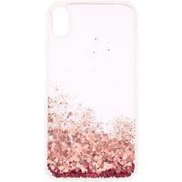 Claire's Pink Glitter Cascade Protective Phone Case - Fits Iphone Xr - Glitter Gifts