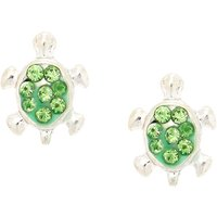 Claire's Silver Turtle Magnetic Stud Earrings - Green - Turtle Gifts