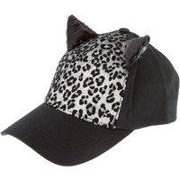 Claire's Sequin Leopard Cat Ear Baseball Cap - Black - Baseball Gifts