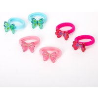 Claire's Club Glitter Butterfly Hair Bobbles - 6 Pack - Glitter Gifts