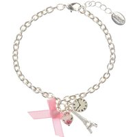 Claire's Silver & Pink Paris Charm Bracelet - Paris Gifts