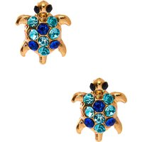 Claire's Gold Tone & Gem Turtle Stud Earrings - Turtle Gifts