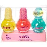 Claire's Club Mini Glitter Peel-Off Nail Polish Set - 3 Pack - Nail Polish Gifts