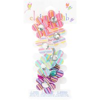Claire's Club Striped Flower Hair Ties - 4 Pack - Ties Gifts