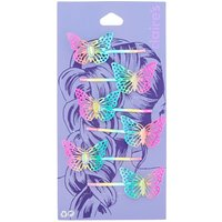 Claire's Anodised Butterfly Hair Pins - 6 Pack - Butterfly Gifts