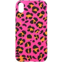 Claire's Neon Pink Leopard Print Phone Case - Fits Iphone Xr - Leopard Print Gifts