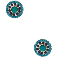 Claire's Silver Stud Earrings - Turquoise - Turquoise Gifts