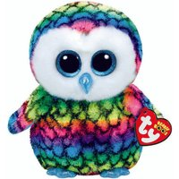 Claire's Ty Beanie Boo Small Aria The Rainbow Owl Soft Toy - Beanie Gifts