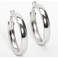 Claire's Silver 50MM Tube Hoop Earrings - Jewellery Gifts