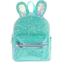 Claire's Glitter Bunny Small Backpack - Mint - Mint Gifts