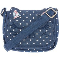 Claire's Club Denim Cat Crossbody Bag - Navy - Claires Gifts