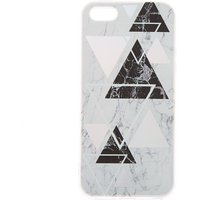 Claire's Silver Geometric Marble Phone Case - Fits Iphone 5/5S - Silver Gifts