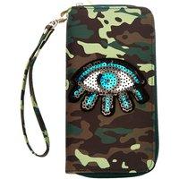 Claire's Sequin Eye Camo Wristlet - Camo Gifts