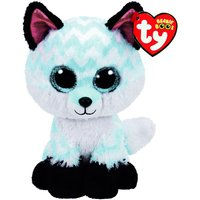 Claire's Ty Beanie Boo Large Piper The Chevron Fox Soft Toy - Beanie Gifts