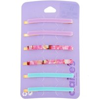 Claire's Cotton Candy Tortoiseshell Hair Pins - 6 Pack - Candy Gifts