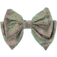 Claire's Metallic Silver Shimmer Hair Bow Clip - Hair Gifts