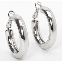 Claire's Silver 30MM Tube Hoop Earrings - Jewellery Gifts