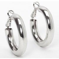 Claire's Silver 30MM Tube Hoop Earrings - Earrings Gifts