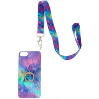 Claire's Galaxy Ring Stand Phone Case With Lanyard - Phone Gifts