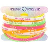 Claire's Neon Rubber Friendship Bracelets - 12 Pack - Friendship Gifts