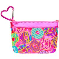 Claire's Neon Animal Donut Print Zip Coin Purse - Pink - Animal Gifts