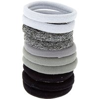 Claire's Silver Glitter Hair Ties - 10 Pack - Ties Gifts