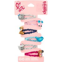 Claire's Claire's Club Glitter Animal Snap Hair Clips - 6 Pack - Hair Gifts