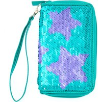 Claire's Reversible Sequin Stars Wristlet - Turquoise - Turquoise Gifts