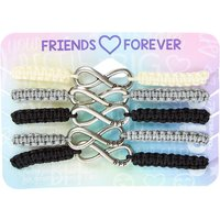 Claire's Grey Scale Infinity Adjustable Friendship Bracelets - 5 Pack - Friendship Gifts
